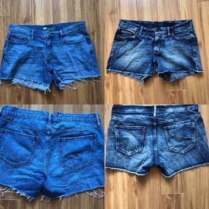 Two Pairs Old Navy Denim Shorts Zip Front